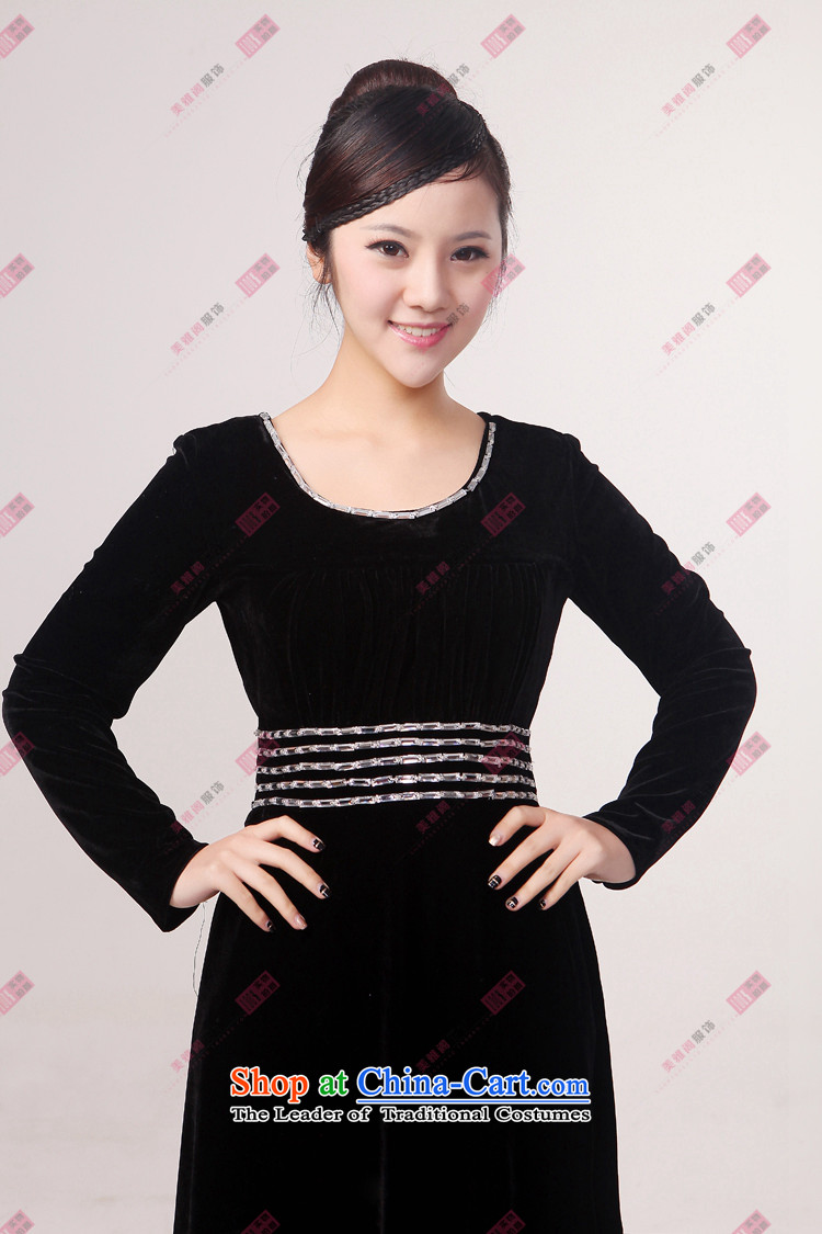 Charlene Choi Torino Winter long-sleeved clothing chorus black velvet chorus in older choral clothing choral conductor services Black XL Photo, prices, brand platters! The elections are supplied in the national character of distribution, so action, buy now enjoy more preferential! As soon as possible.