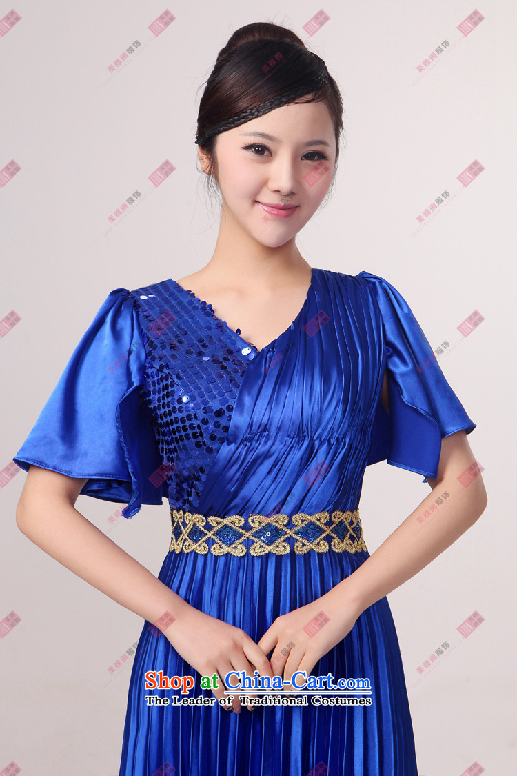 Charlene Choi Ling Bao blue large pressure Zou choral services chorus girl long on services answering chorus of clothing custom L picture, prices, brand platters! The elections are supplied in the national character of distribution, so action, buy now enjoy more preferential! As soon as possible.