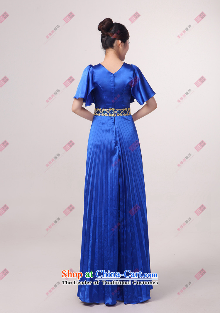 Charlene Choi Ling Bao blue large pressure Zou choral services chorus girl long on services answering chorus of clothing customL picture, prices, brand platters! The elections are supplied in the national character of distribution, so action, buy now enjoy more preferential! As soon as possible.