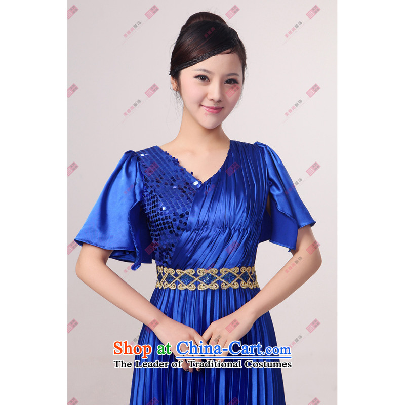 Charlene Choi Ling Bao blue large pressure Zou choral services chorus girl long on services answering chorus of clothing , L, Charlene Choi Spirit (custom).... yanling shopping on the Internet