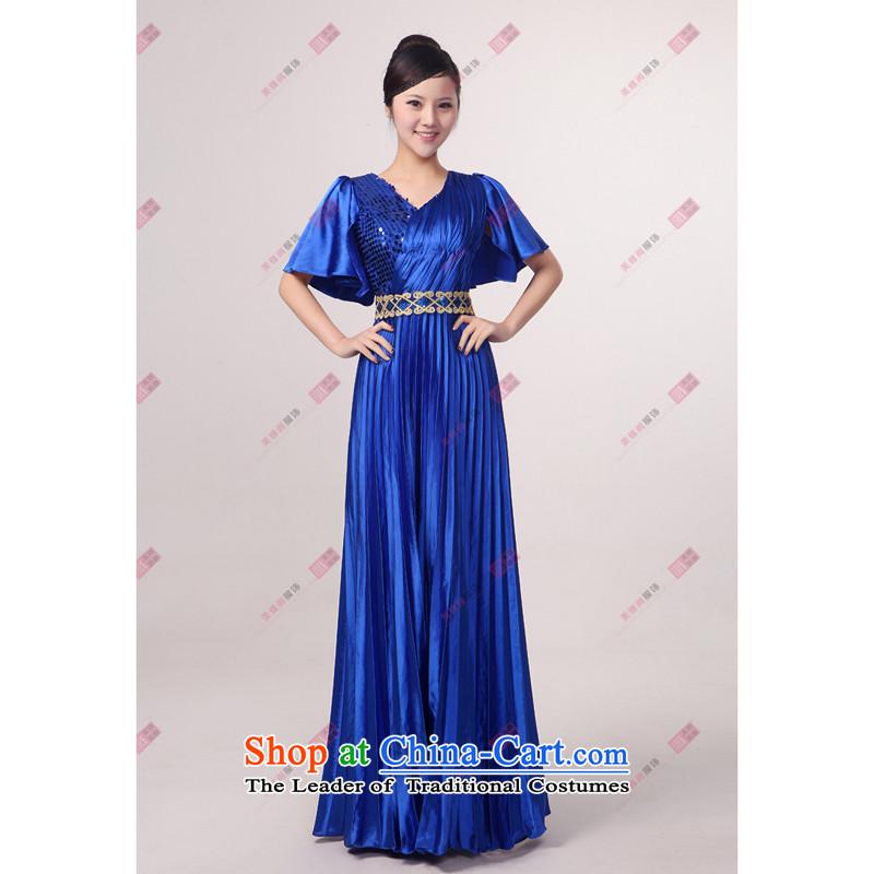 Charlene Choi Ling Bao blue large pressure Zou choral services chorus girl long on services answering chorus of clothing, L, Charlene Choi Spirit (custom).... yanling shopping on the Internet