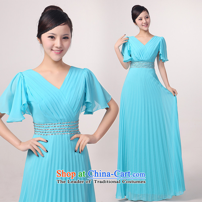 Charlene Choi Torino Winter Niba sleeve length of large choral services choral clothing female long older chorus services custom blue?XXL