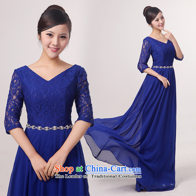 Charlene Choi Spirit in the new cuff lace long choral services custom services chorus choral conductor services choral clothing?XXXL blue
