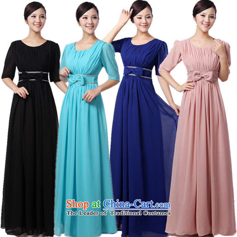 Charlene Choi Ling low price chorus services skyblue choral clothing female long skirt the new president in the Cuff choral services dress?XL