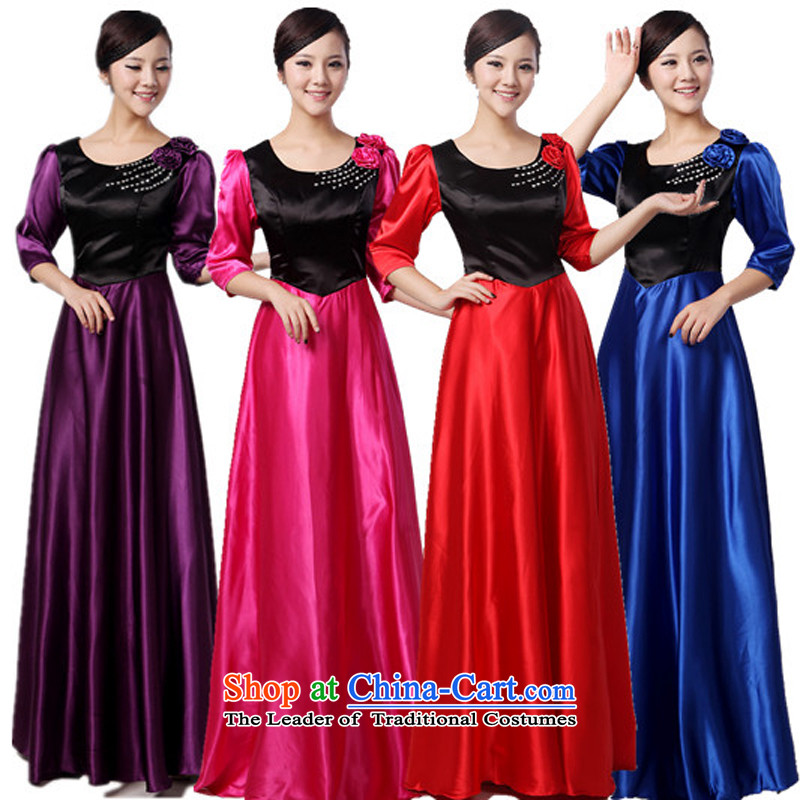 Charlene Choi Ling new choral service long-sleeved long chorus services choral clothing female Ms. long skirt Stage Costume custom XXXL
