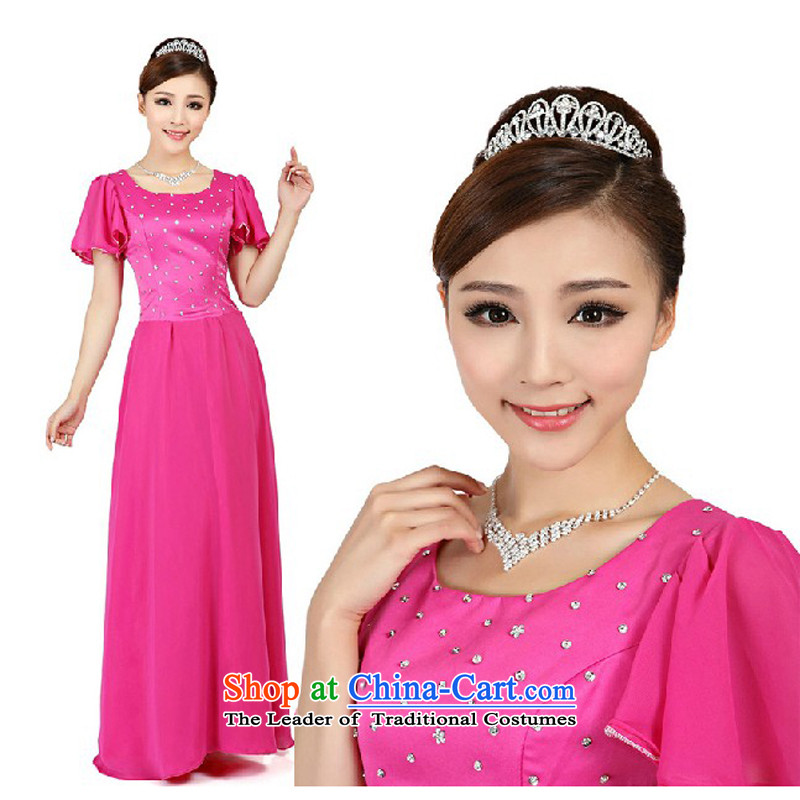 Charlene Choi Ling red long large nails pearl dress choral Services command-dance performance services rose red?XXL