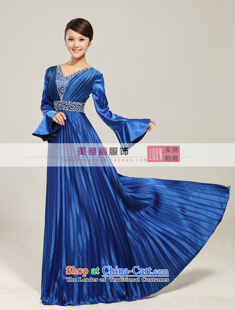 Charlene Choi Ling manually staple pearl horn sleeve length) Ms. large choral services chorus services choral clothing female long skirt XXXL picture, prices, brand platters! The elections are supplied in the national character of distribution, so action, buy now enjoy more preferential! As soon as possible.