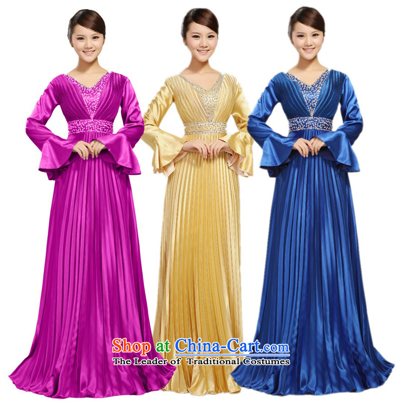 Charlene Choi Ling manually staple pearl horn sleeve length) Ms. large choral services chorus services choral clothing female?XXXL long skirt