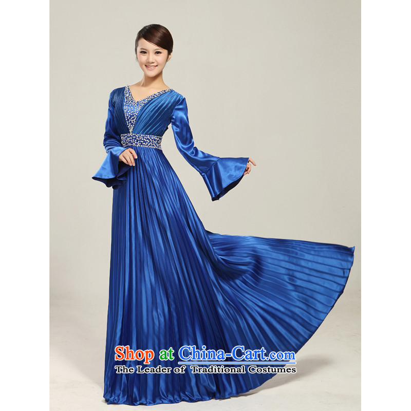 Charlene Choi Ling manually staple pearl horn sleeve length) Ms. large choral services chorus services choral clothing female long skirt XXXL, Charlene Choi Spirit (yanling) , , , shopping on the Internet
