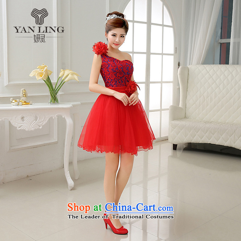 2015 new water-soluble lace canopies canopies yarn Beveled Shoulder bride services Autumn Show bows LF183 RED?XL