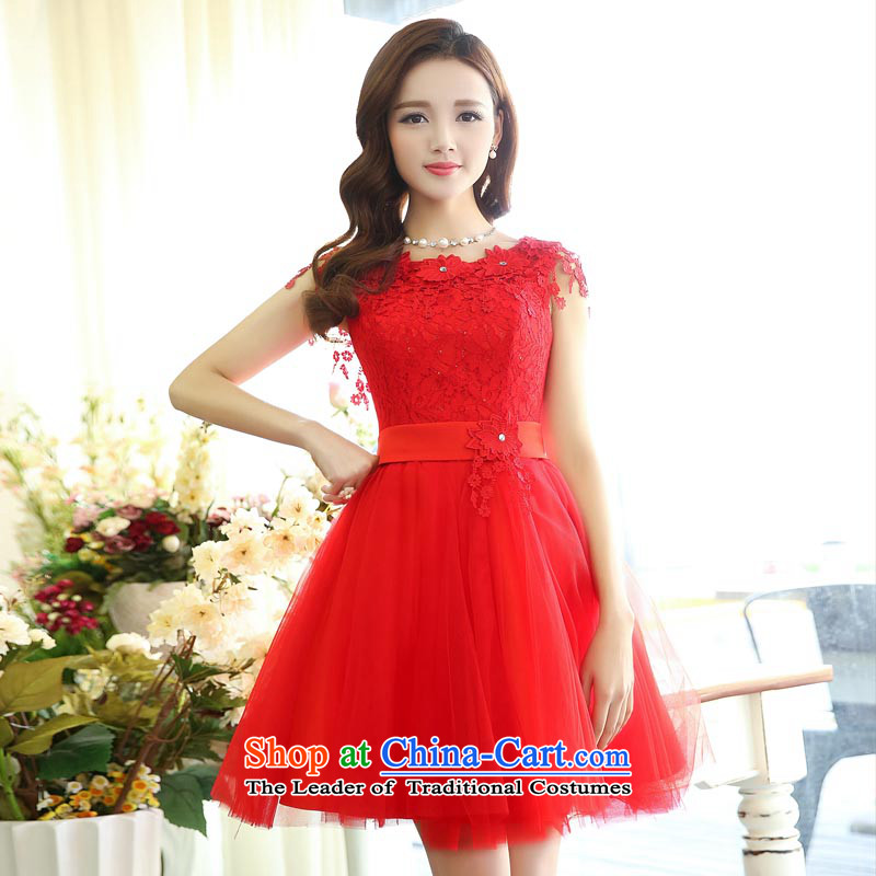 To Doi Shu Spring 2015 new back small dress bridesmaid short of Princess bon bon evening dress wedding dresses bows to raise performance?XL
