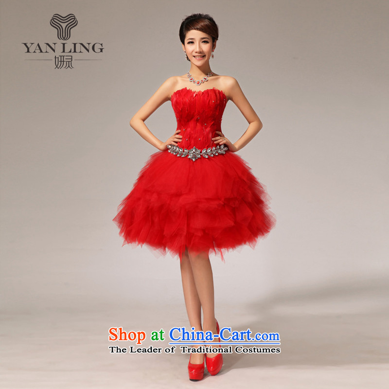 2015 new dresses bows to red dress small dress LF117 RED?L