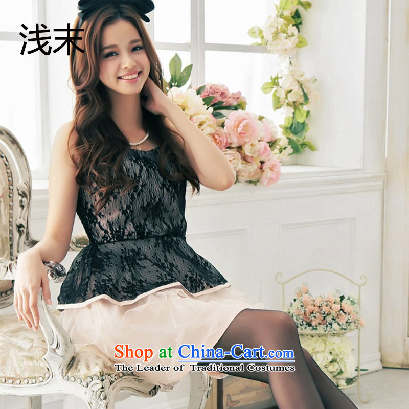 The end of the light (MO) sweet anointed QIAN chest knocked color layers cake temperament small dress dress skirt dresses 3381 pink?XXL