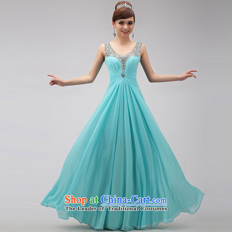 The knot true love annual dinner dress 2015 will blue long marriages bows service banquet moderator winter sky blue?M