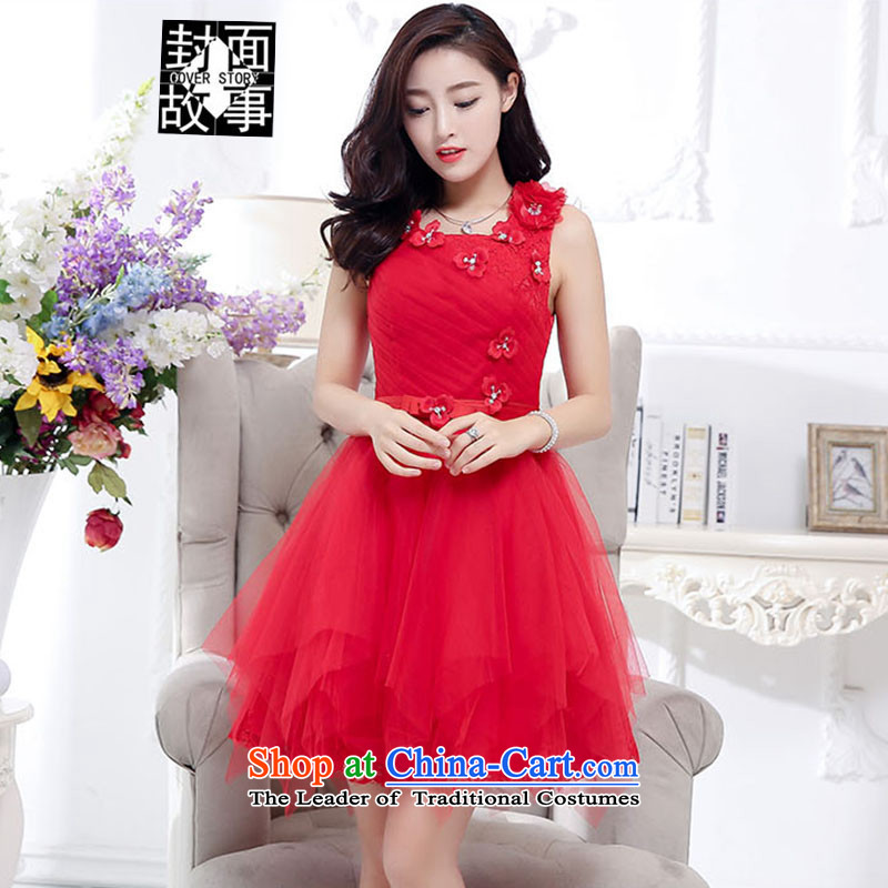 Cover Story 2015 new graphics coltish, Sau San lace bridal dresses bows bridesmaids bows stereo floral decorations bon bon skirt dresses female RED?M