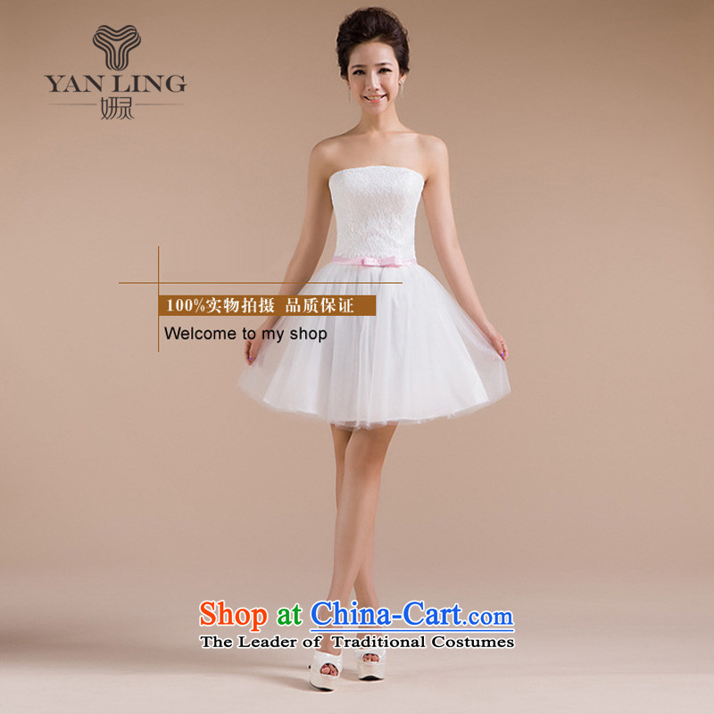 2015 new compact anointed chest flower buds silk gown yarn Decorated flowers. The smaller dresses stereo LF181 white�L