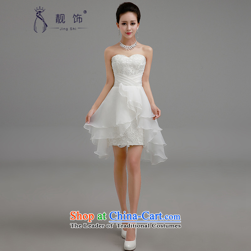 The new 2015 international friendship and chest service upscale bride bows chiffon short of Female dress bridesmaid small in sister dress with white?M