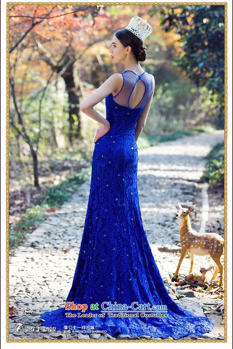 A Bride luxury drill Po-blue dress crowsfoot small trailing dress lace Sau San Dinner 2208 Blue L pre-sale 3 day shipping picture, prices, brand platters! The elections are supplied in the national character of distribution, so action, buy now enjoy more preferential! As soon as possible.