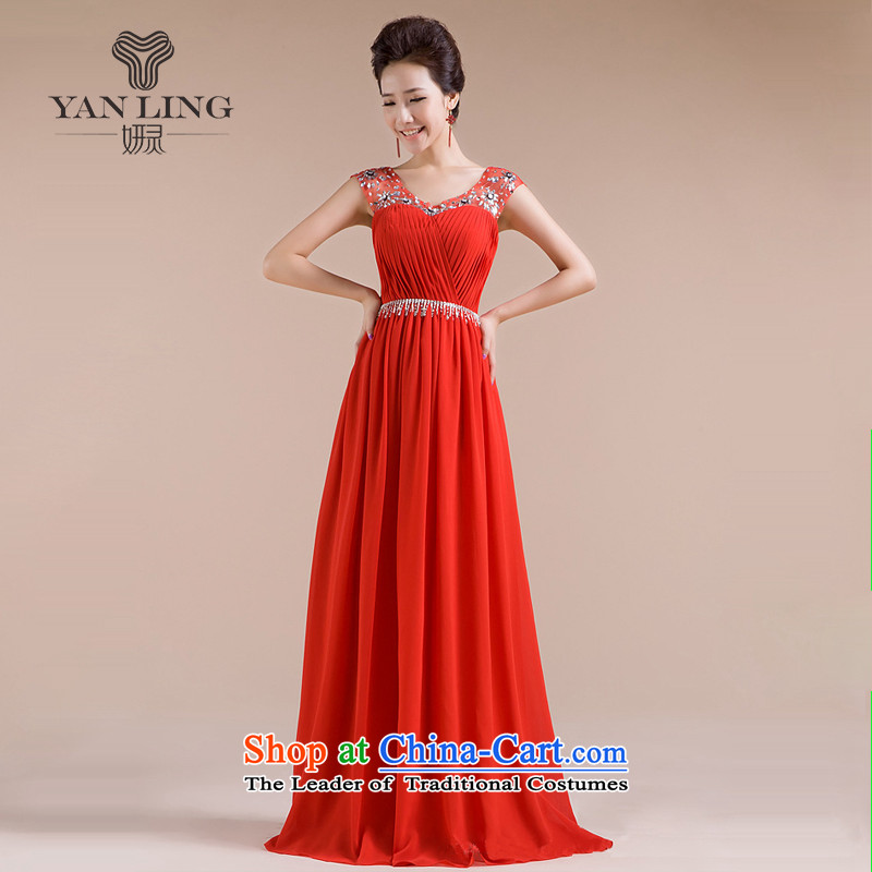 2015 new marriages of evening dresses bows chief wedding dresses LF1003 CHIFFON RED?M
