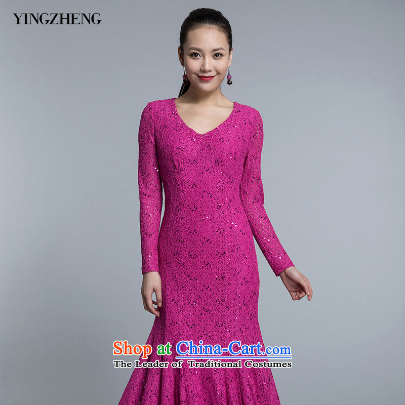 �Welcome governance YINGZHENG dresses dress dress crowsfoot lace�NS513470810�better pink�42(170/92A)