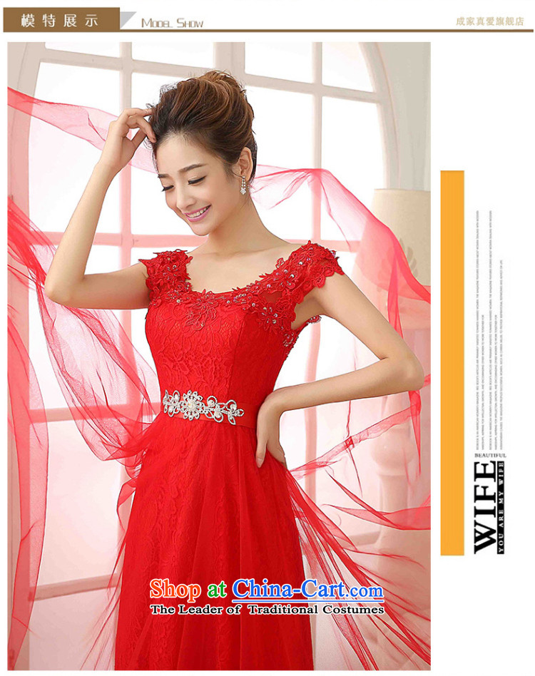 The knot true love bows Service Bridal Fashion 2015 new word wedding dresses shoulder deep V-Neck long marriage evening dress autumn and winter red XL Photo, prices, brand platters! The elections are supplied in the national character of distribution, so action, buy now enjoy more preferential! As soon as possible.