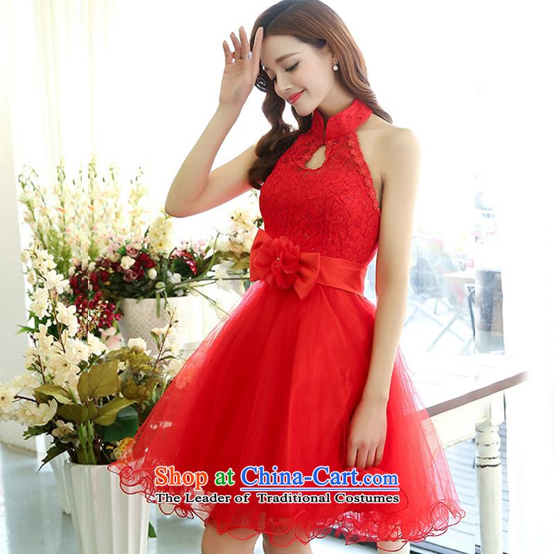 Uyuk  new stylish bows services bridesmaid service wedding dresses irrepressible elegant lace the yarn dresses REDM with Yi (UYUK on) , , , shopping on the Internet