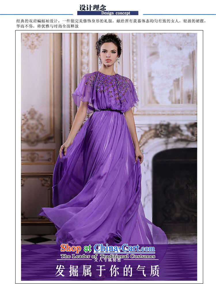 Doris Qi evening dresses bat sleeves long annual meeting of Sau San dress skirt moderator dress with a light purple聽L picture, prices, brand platters! The elections are supplied in the national character of distribution, so action, buy now enjoy more preferential! As soon as possible.