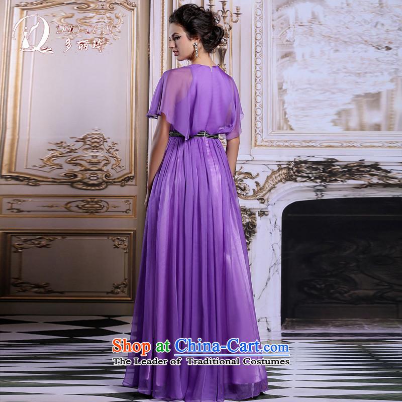 Doris Qi evening dresses bat sleeves long annual meeting of Sau San dress skirt moderator dress with a light purple, L, Doris Qi (doris dress) , , , shopping on the Internet