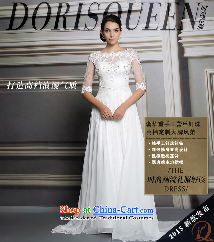 Doris Qi wedding dress, 2015 long white lace wedding dresses wedding services white L picture, prices, brand platters! The elections are supplied in the national character of distribution, so action, buy now enjoy more preferential! As soon as possible.