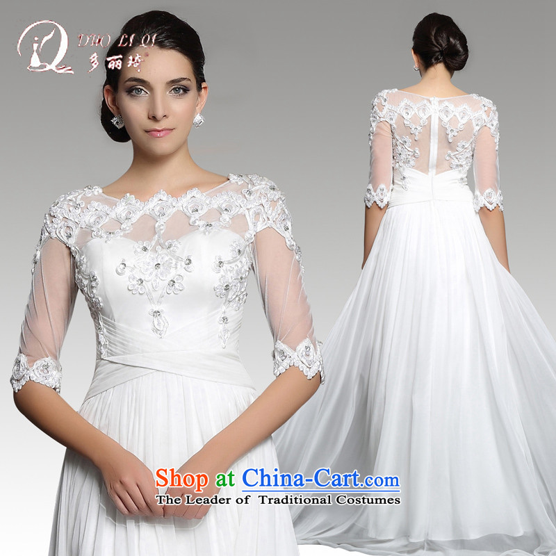 Doris Qi wedding dress, 2015 long white lace wedding dresses wedding services white?L