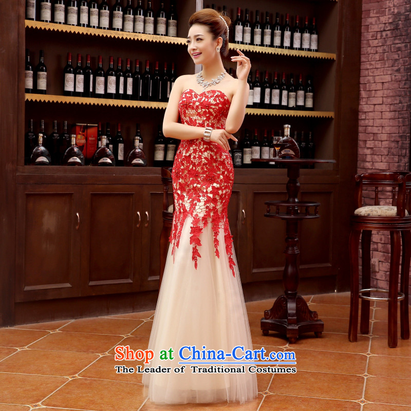 Charlene Choi Ling marriage wedding dresses short) equipped bridesmaid marriage with long evening dresses marriage small red dress?s