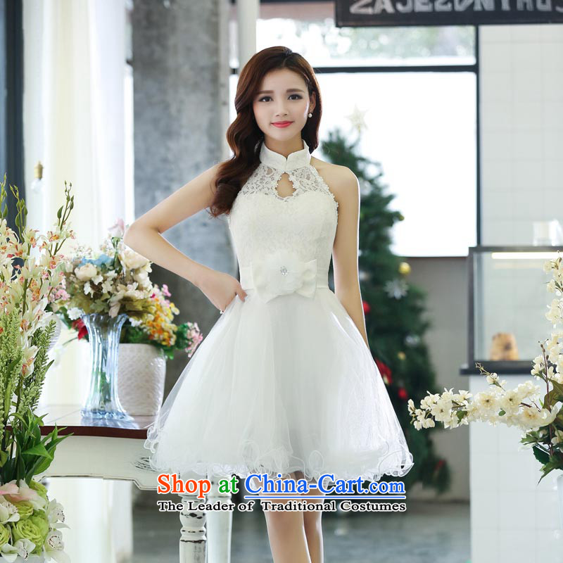? 2015 autumn season of arrogance bridesmaid service, establishment of autumn and winter new bride sister married in special evening dresses show small annual dress White?XL