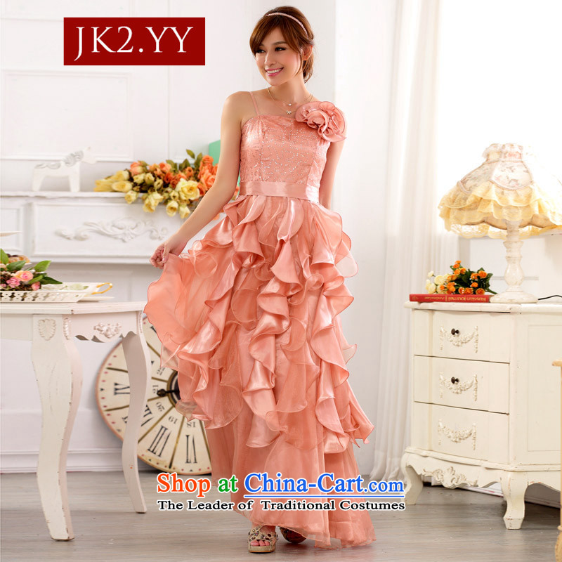 ?The beauty and evening performances JK2 services nightclubs skirt large Princess on the lifting strap is skirt long evening dress skirt (flower) can be removed from the toner color?XXXL