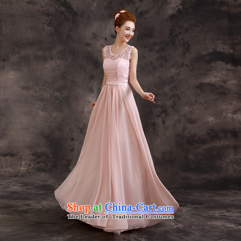 The privilege of serving-leung 2015 new bride in the summer sister bridesmaid dress skirt long evening dresses bridesmaids?E07_ - shoulders back?XL