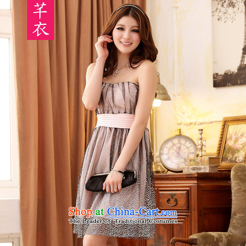 The 2015 Annual Meetings of the focus of the new mini super star gauze Foutune of wiping the chest princess dress thick mm xl wedding dress sister bridesmaid pink dresses to large 3XL 160-180 catty
