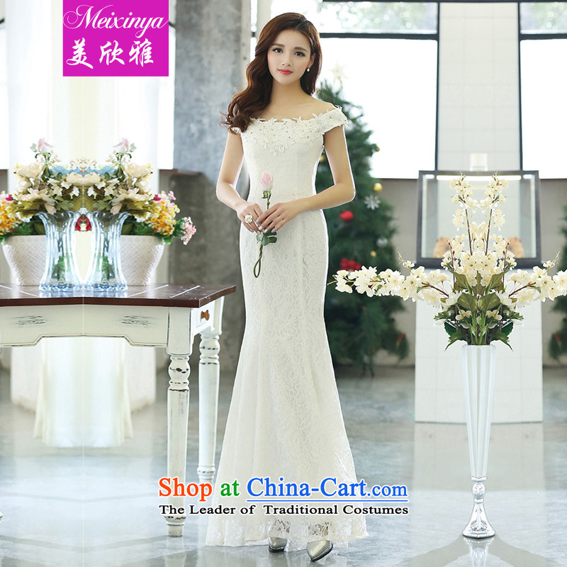 The United States welcomes the Accor Group 2015 Women's spring and summer wedding dresses sleeveless banquet will support the bride pour services 1515 White M