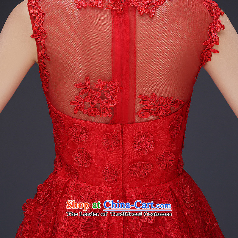 Lily Dance wedding dresses new 2015 Red shoulders lace bride bows Dress Short winter clothing) wedding-dress female red , L, Lily Dance (ball lily shopping on the Internet has been pressed.)