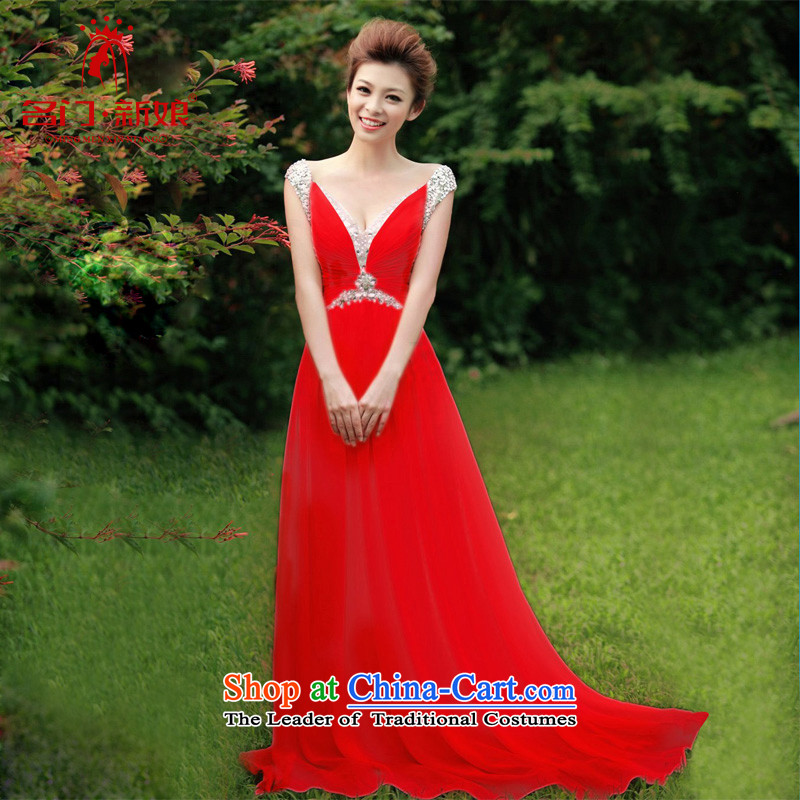 A bride wedding dress bows services will long dresses new dresses made red 278 25 day shipping