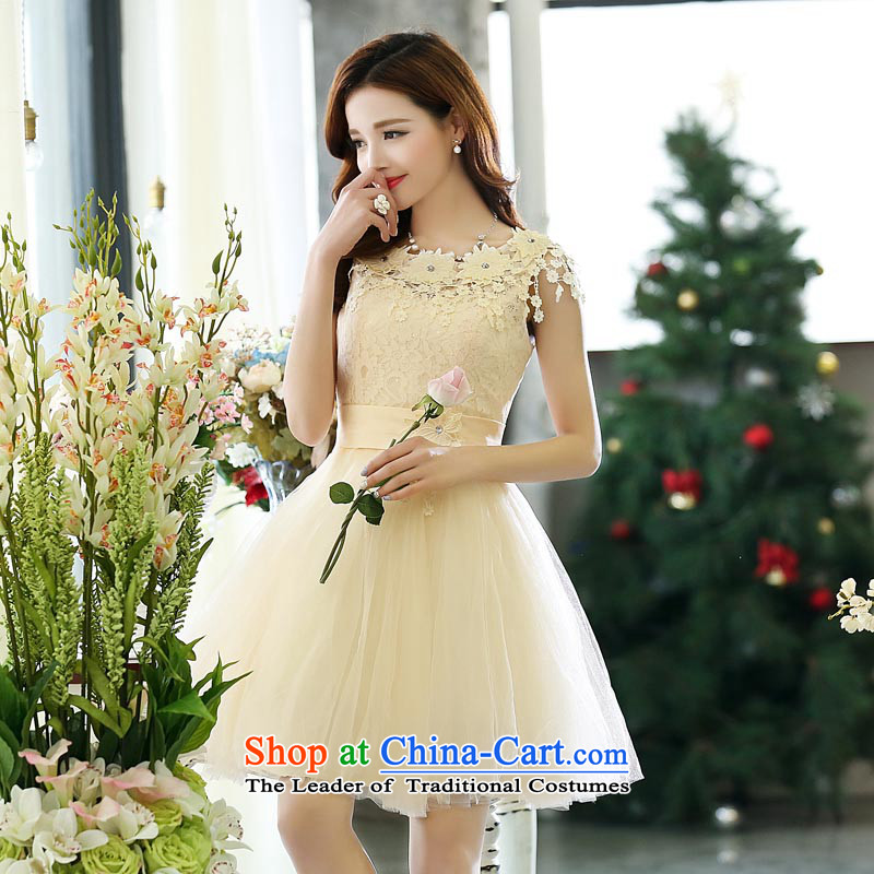 ?2015 autumn season arrogance new bridesmaid marriages bows service, bon bon skirt red dress skirts meters annual white?S