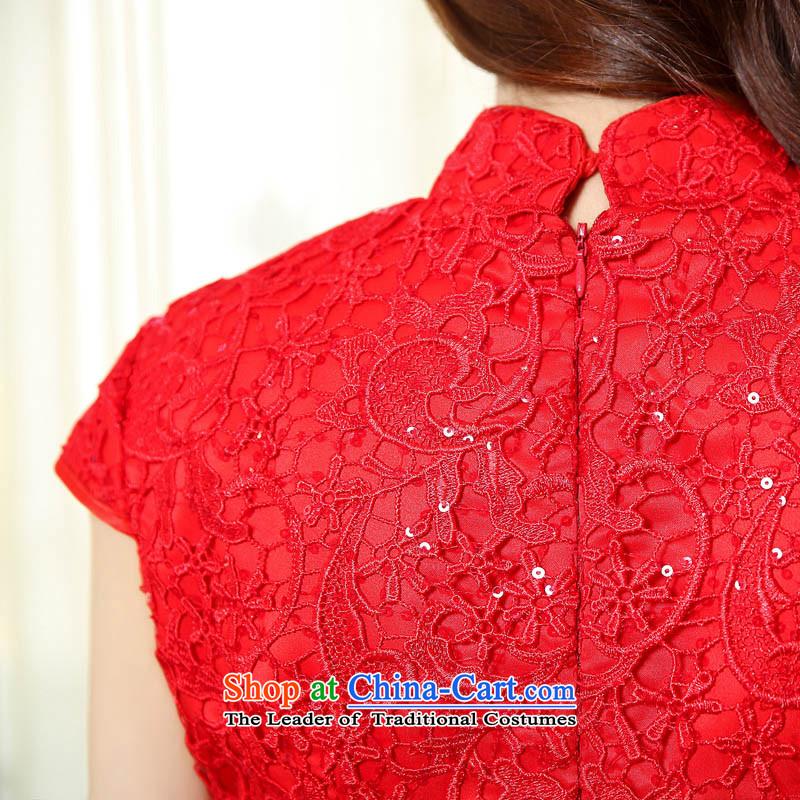聽2015 spring season arrogance new bride services with bows short-sleeved cheongsam dress Wedding Dress Short, red lace picture color聽XXXL, arrogance OMMECHE season () , , , shopping on the Internet