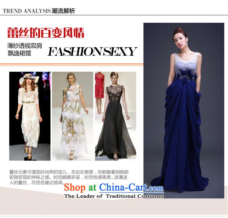 The Republika Srpska divas new Korean 2015 stylish long gown blue