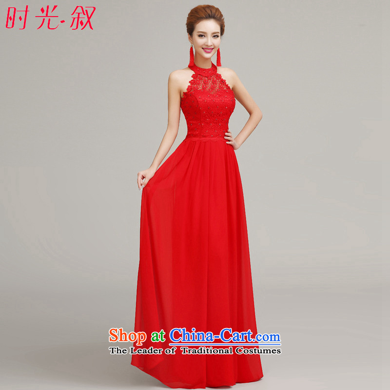 The Syrian Arab Republic during the spring and autumn red wall time also small dress bows and the relatively short time of service bridal bridesmaid long evening dresses wedding night wear tie long?S