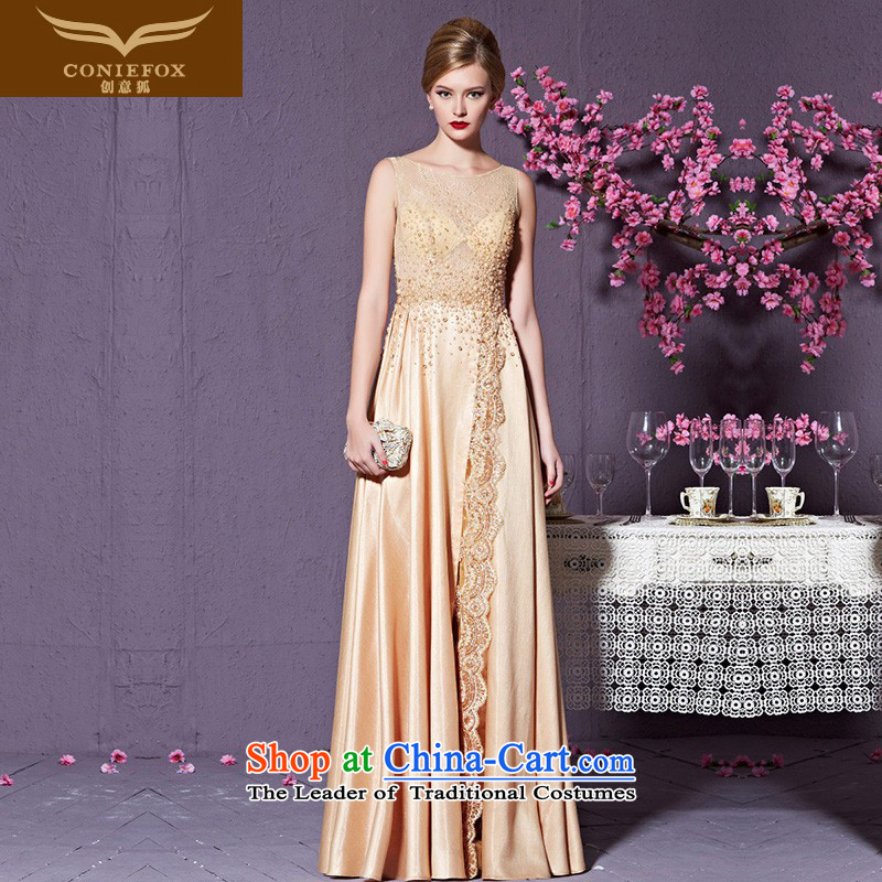Creative Fox evening dresses?2015 new high-end custom dress bows dress annual chairmanship of female high long dresses waist dress exhibition dress 82216) does not support custom return