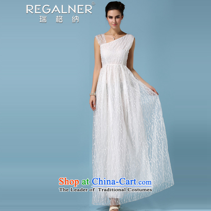 Rui, 2015 new products to pure white European root wedding dresses dresses for the full three-dimensional shawl embroidered willow leaves people crowsfoot dresses a three wearing white?S Yi