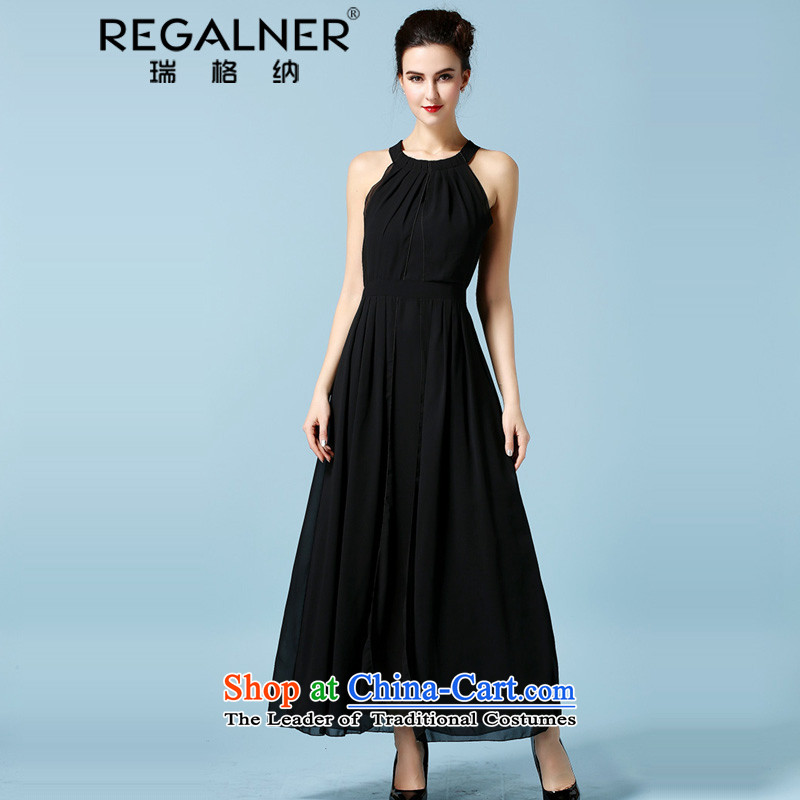 Rui, summer 2015 new ultra-small black skirt dress dresses hang back to drag the history and sexy black snow goddess woven Sau San large skirt long skirt black?M
