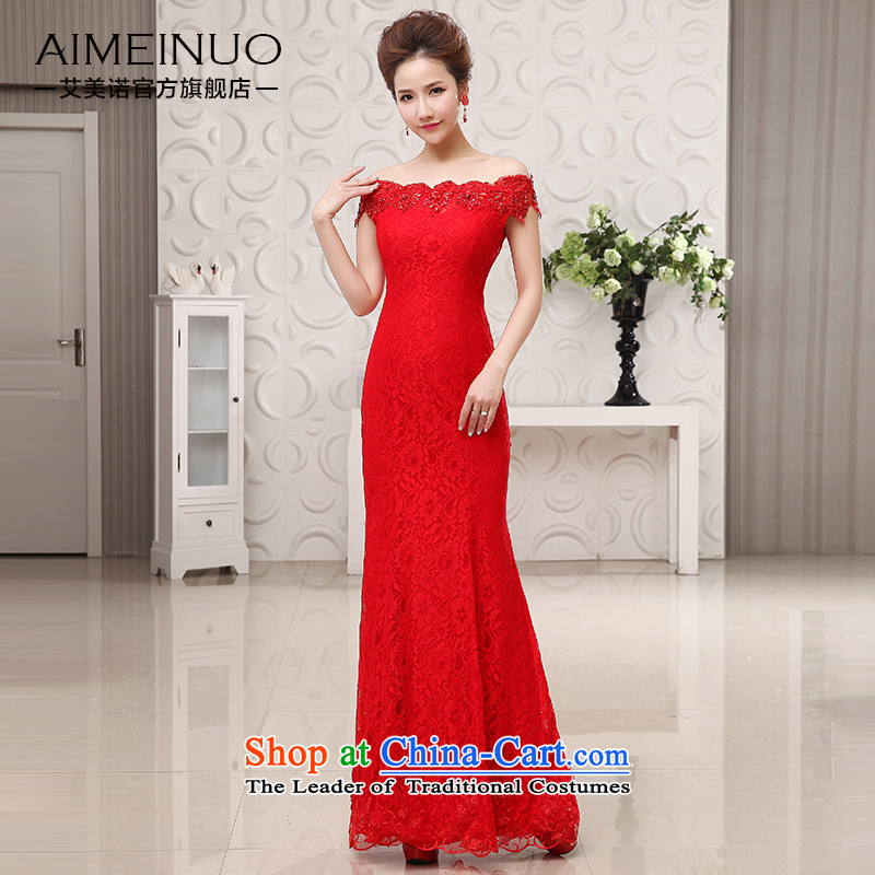 The HIV?new bride dresses 2015 package and video thin sexy crowsfoot slotted shoulder straps lace flowers bows?L0049 Service??Code?_S?waistline red 1.9 feet?_