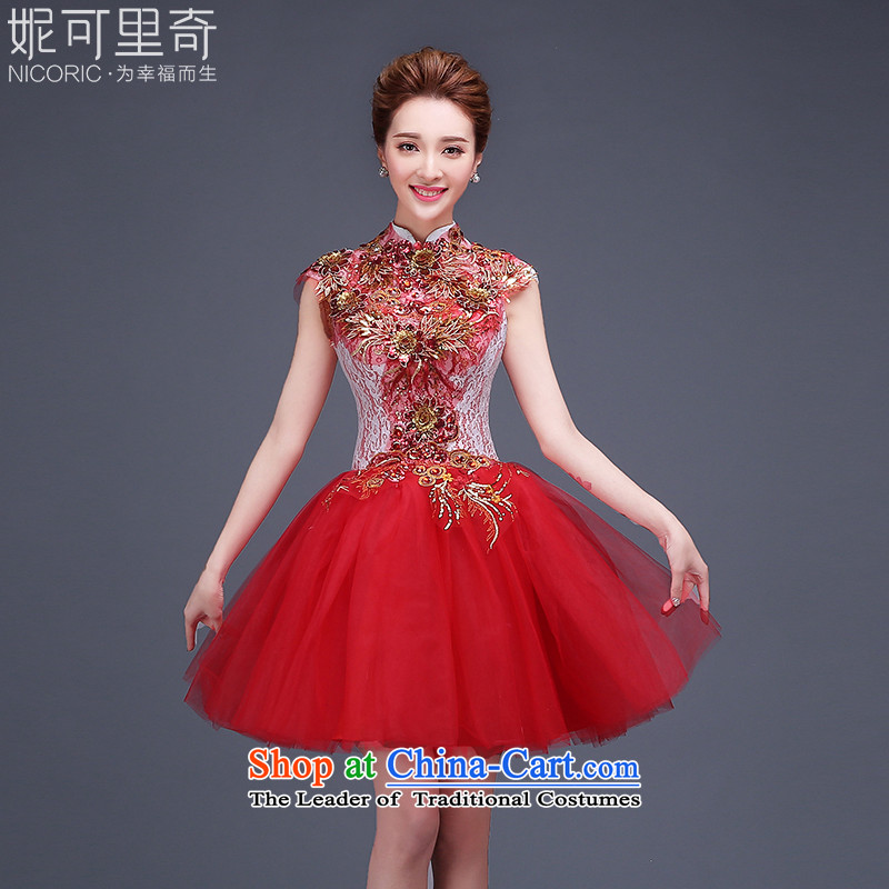 Evening dress new stylish winter 2015 short of the small dining evening dresses Sau San summer annual meeting of persons chairing the ball dress graduated women dress suit?S(3 ship within days of red)