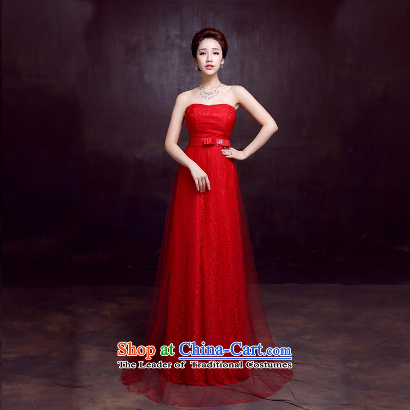 The dumping of the wedding dress wedding dresses new 2015 sexy anointed chest bride bows services to marry red dress red?L