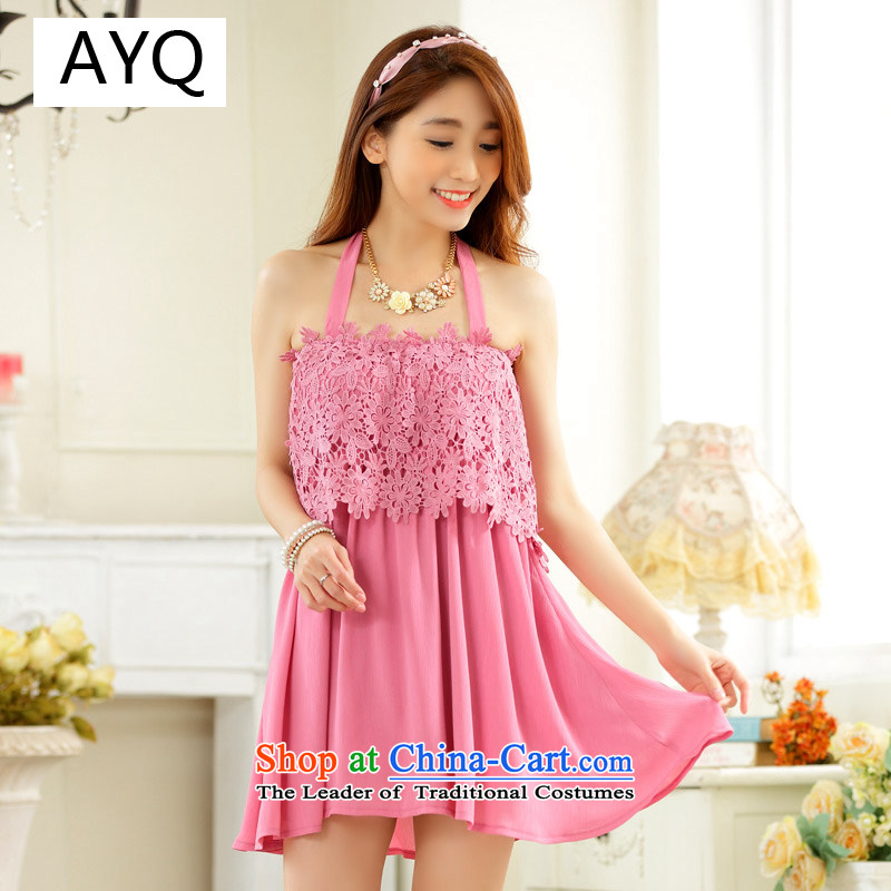 Hiv has been integrated with lace fresh qi elasticated straps bare shoulders long T-shirt larger shirt skirt�9732A-1�toner�XXXL Purple