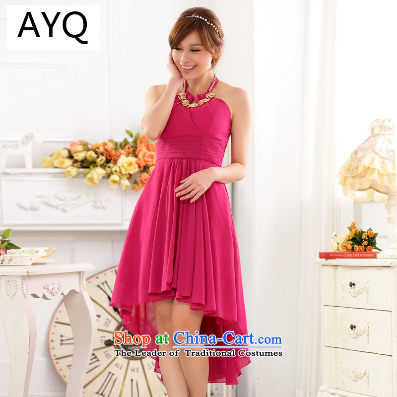 Hiv has been qi aristocratic bare shoulders hang also sexy foutune show large chiffon dovetail dress dresses?in red are code 9915A-1 F
